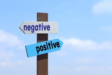 negativeとpositiveの矢印 画像