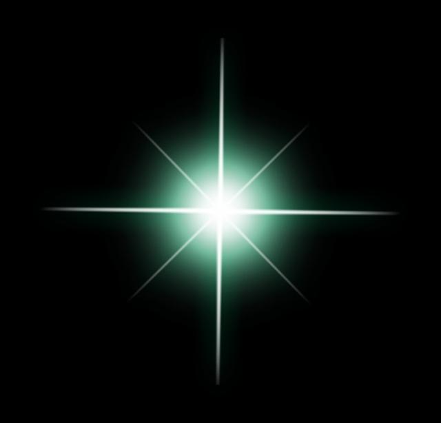 光を正面から見た閃光