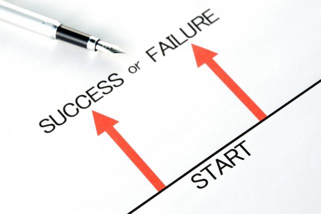 SUCCESS or FAILUREの矢印画像