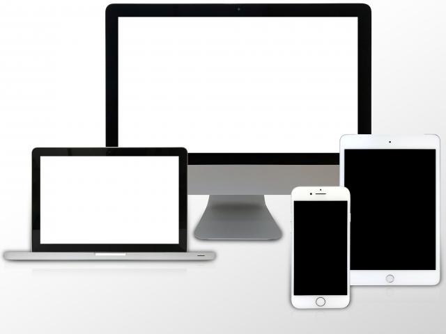 PCとタブレットとスマホ画像