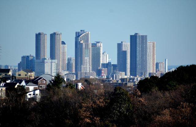 武蔵小杉の高層マンション群 画像