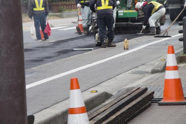 道路工事中の画像