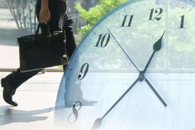 時計とビジネスマン 画像