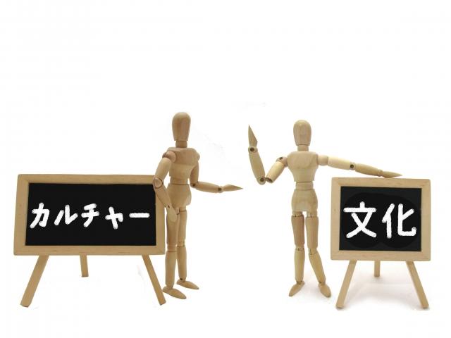 文化の看板と人形 画像