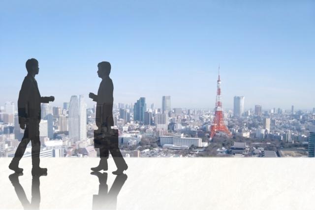 都会で仕事するイメージ 画像