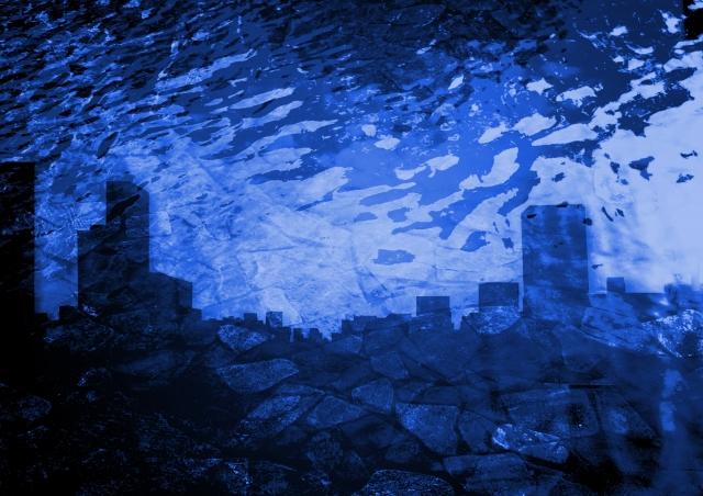 都会の水害イメージ画像