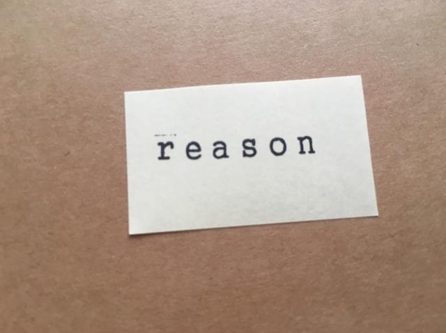 reasonの文字の紙 画像