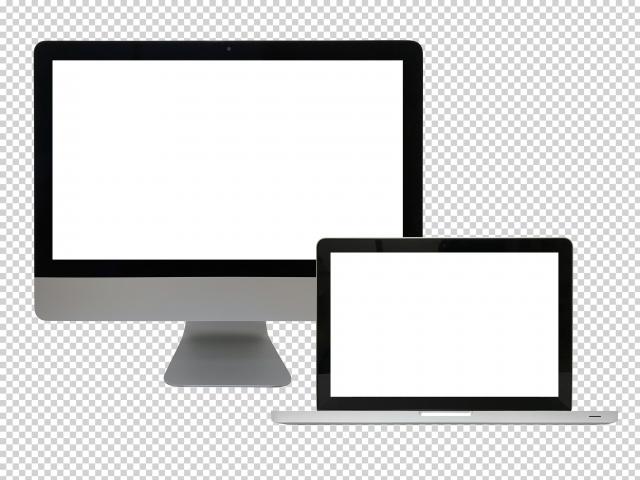 デスクトップとノートPC画像