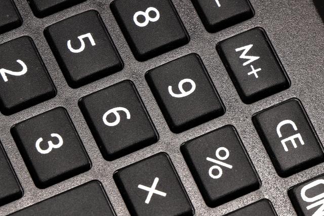電卓のキー 画像