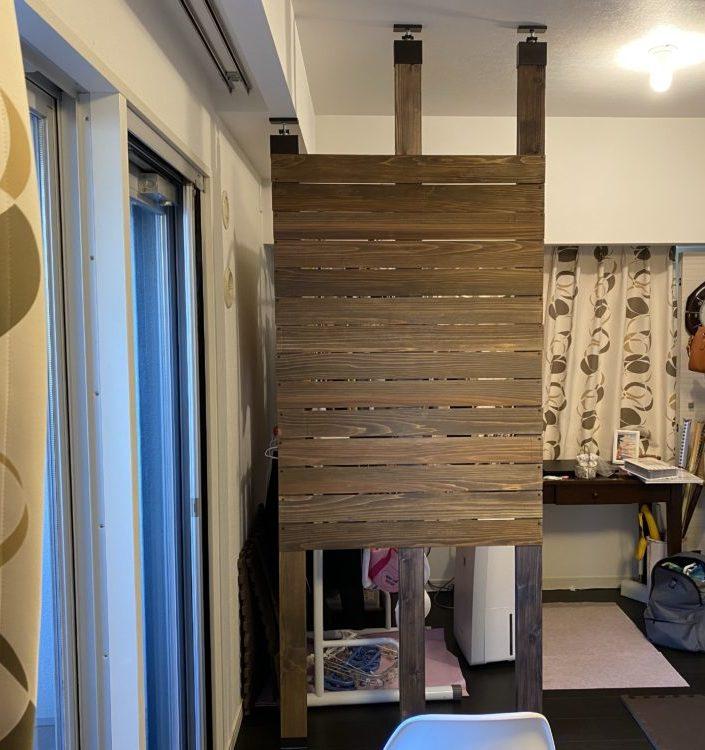 柱と板の取り付け完成 画像
