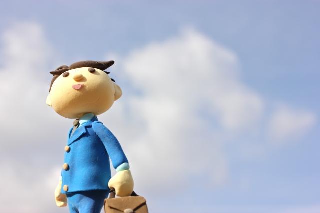 青空とビジネスマン 画像