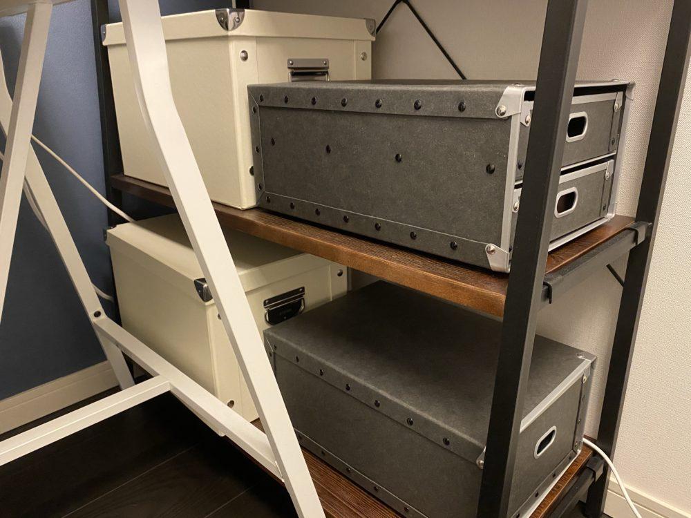 収納ボックス ラックに設置状態 画像