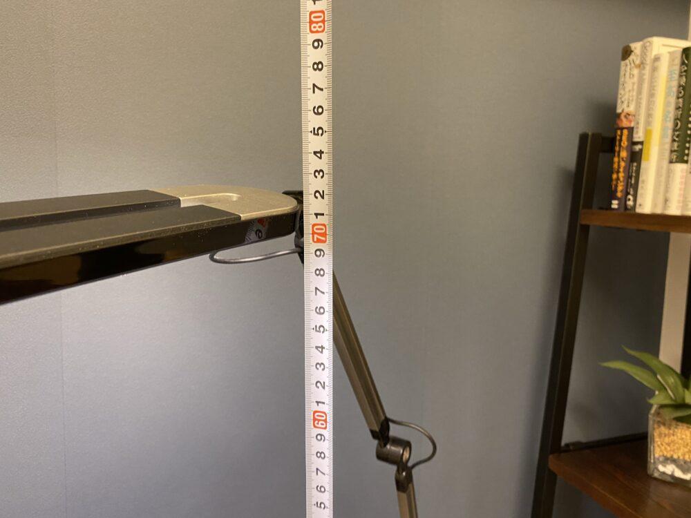 高さをメジャー測定 画像