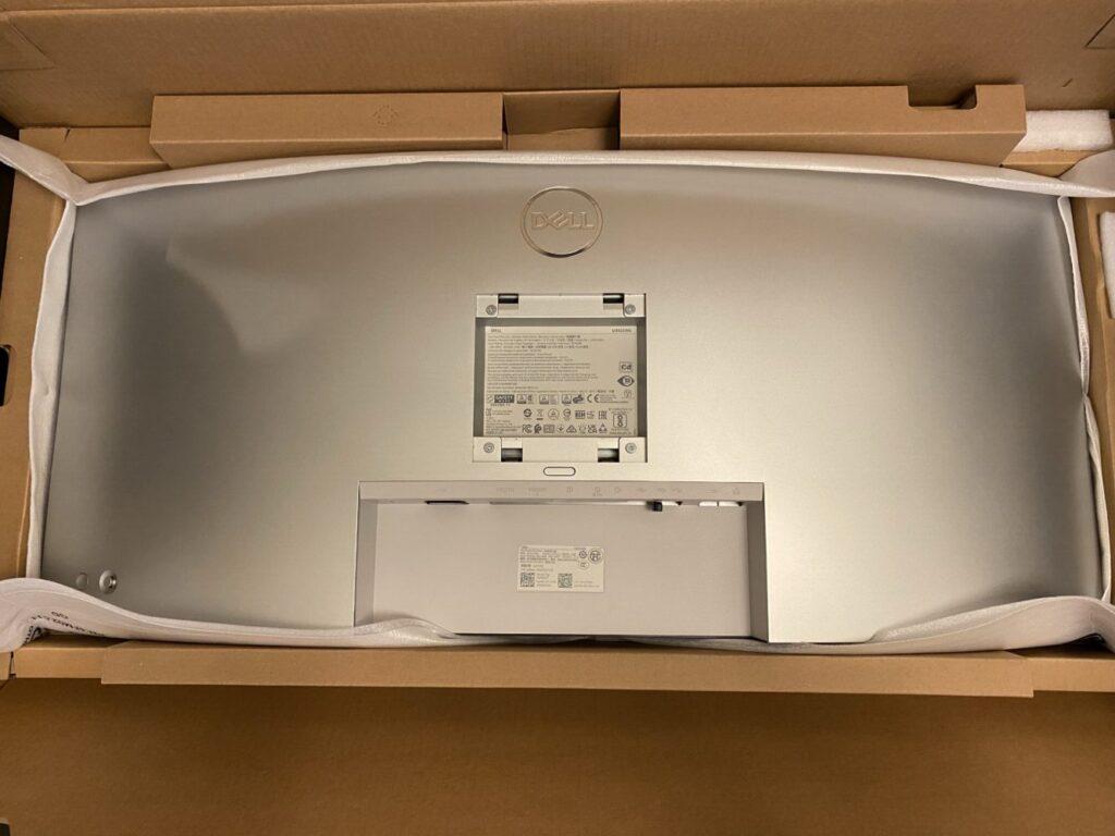 ウルトラワイドモニターを購入した箱にセット 画像
